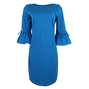 Blue Semi-Sheath dress