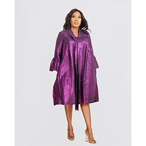 HaloGlow Violet A-Line Dress